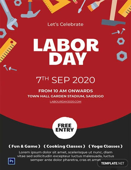 Free Labor Day Invitation Template