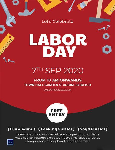 Free Labor Day Invitation Template