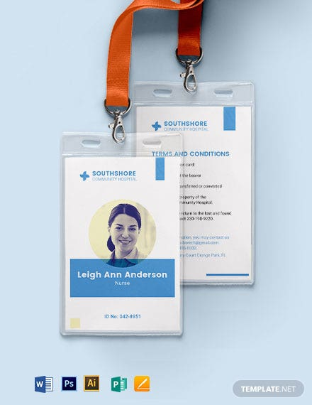 Nurse ID Card Template