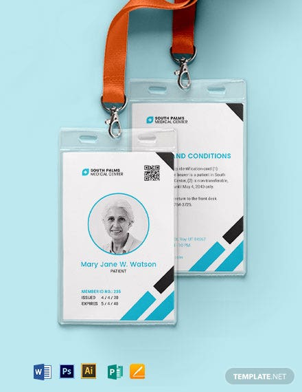 Patient ID Card Template