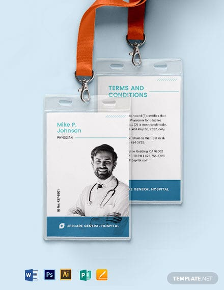 Physician ID Card Template