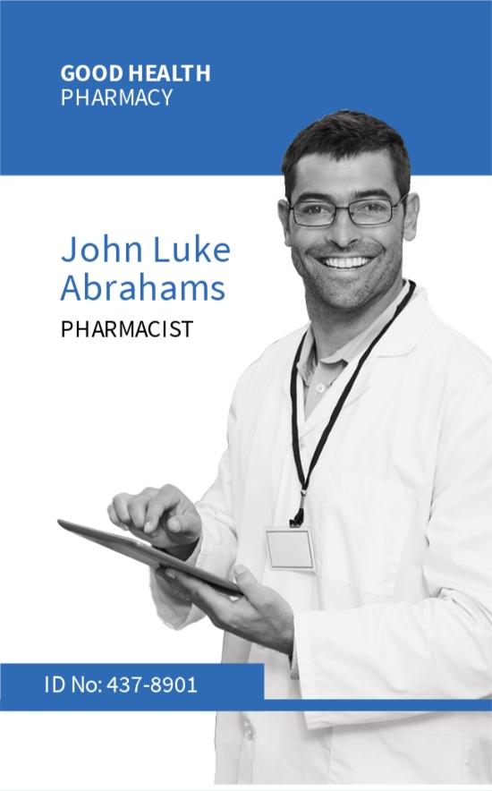 Pharmacy ID Card Template