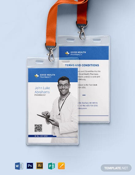 Pharmacy ID Card Template
