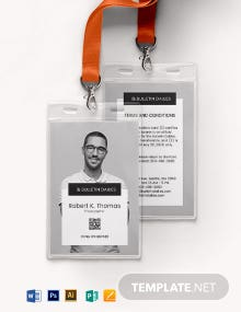 Portrait ID Card Template