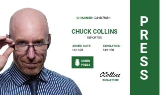 Portrait/Horizontal Press ID Card Template