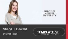 Printable College ID Card Template