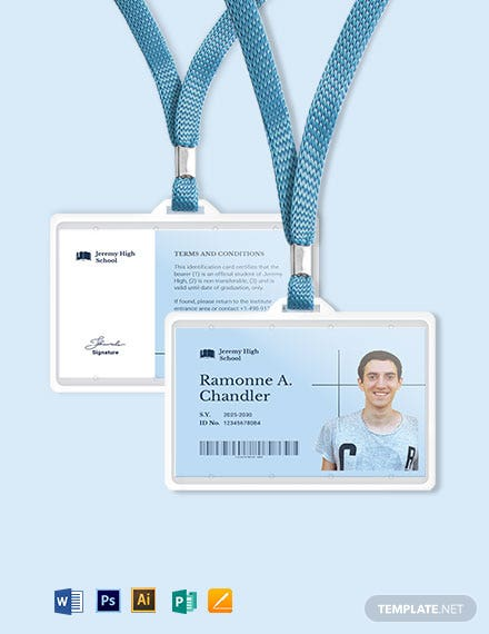 Printable School ID Card Template