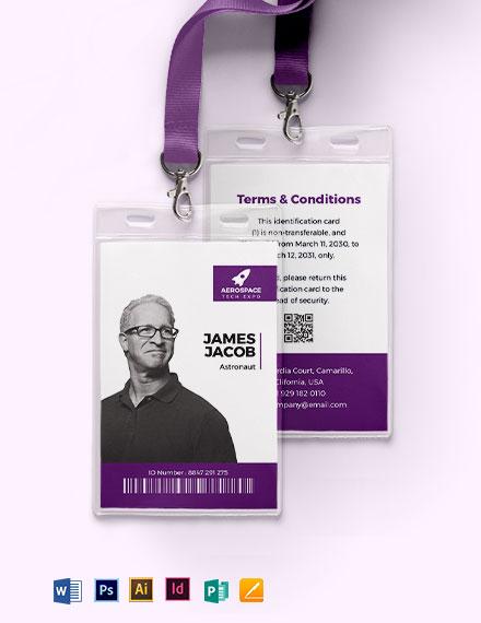 Techespo ID Card Template
