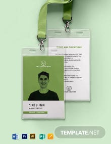 Printable Association ID Card Template