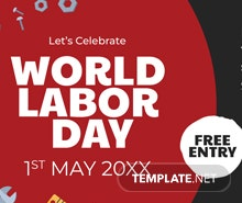 Free Labor Day LinkedIn Company Cover Template