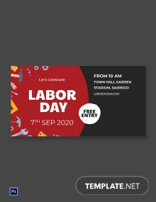 Free Labor Day LinkedIn Company Cover Template