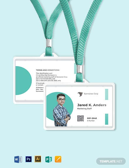 Printable Employee ID Card