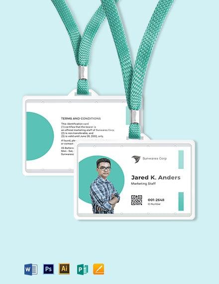 Printable Employee ID Card Template
