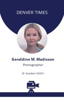 Printable Photographer ID Card Template