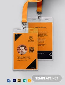 Printable Sports ID Card Template