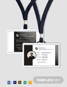 Printable Student ID Card Template
