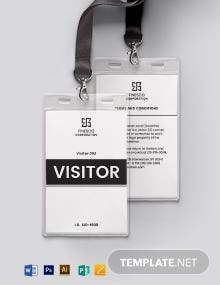 Printable Visitor/Guest ID Card Template