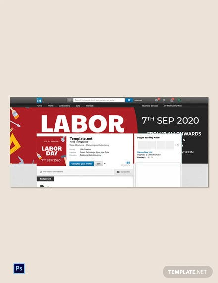 Free Labor Day LinkedIn Profile Banner Template