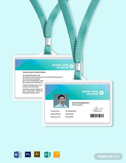 Professional Photographer ID Card Template