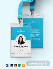 Store ID Card Template