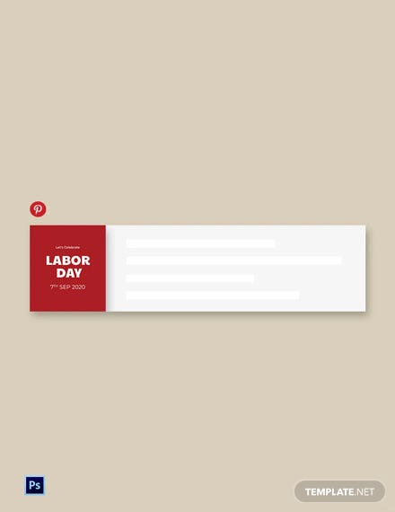 Free Labor Day Pinterest Board Cover Template