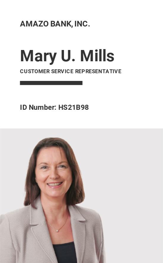 Team Association ID Card Template
