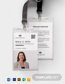 Team Association ID Card Template