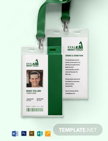 Tourist Guide ID Card Template