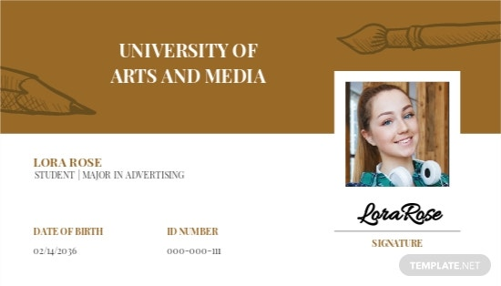 University ID Card Format Template
