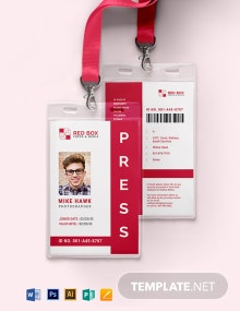 Vertical Press ID Card Template