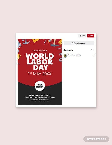 Free Labor Day Pinterest Pin Template