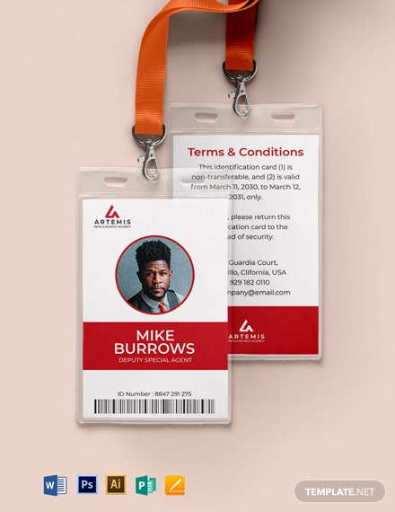 Agent ID Card Template