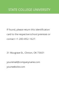 Blank College ID Card Template 1.jpe