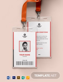 Blank Emergency ID Card Template