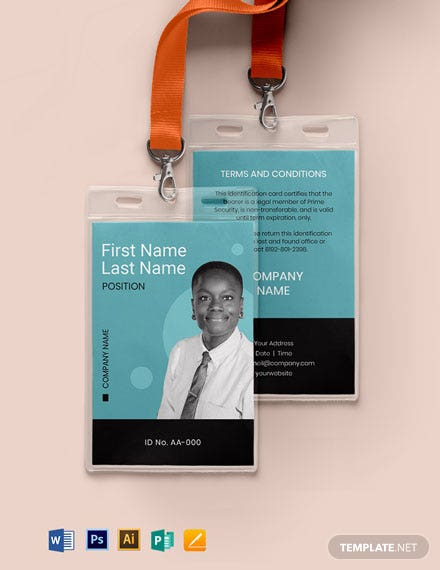 Blank Security ID Card Template