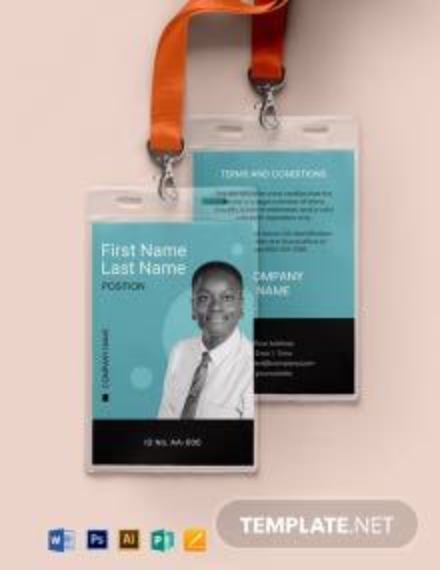 Blank Security ID Card Template