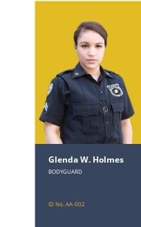 Body Guard ID Card Template