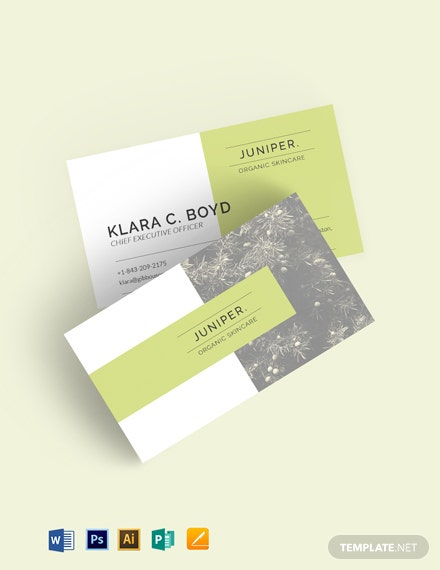 Juniper Business Card Template