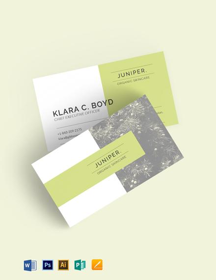 Juniper Business Card Template