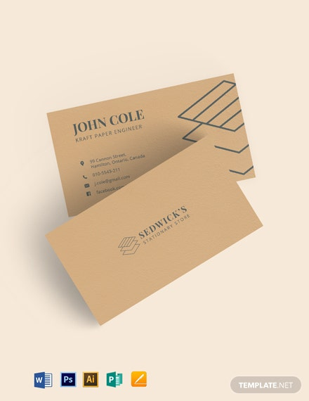 Kraft Paper Business Card Template