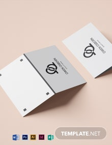 Laptop Folded Business Card Template