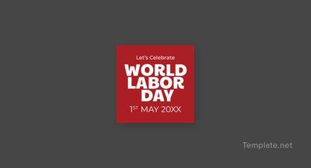 Free Labor Day Pinterest Profile Photo Template