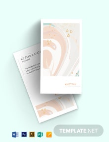 Makeup Watercolour Business Card Template