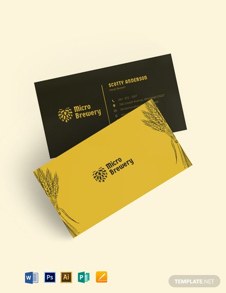 Micro Brewery Business Card Template