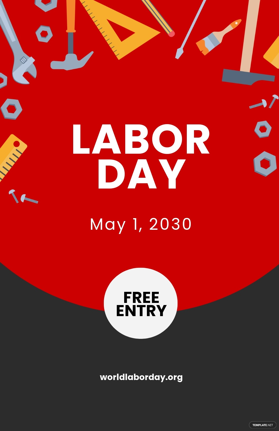 Free Labor Day Poster Template.jpe