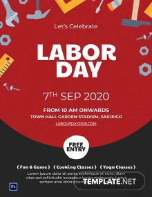 Free Labor Day Poster Template