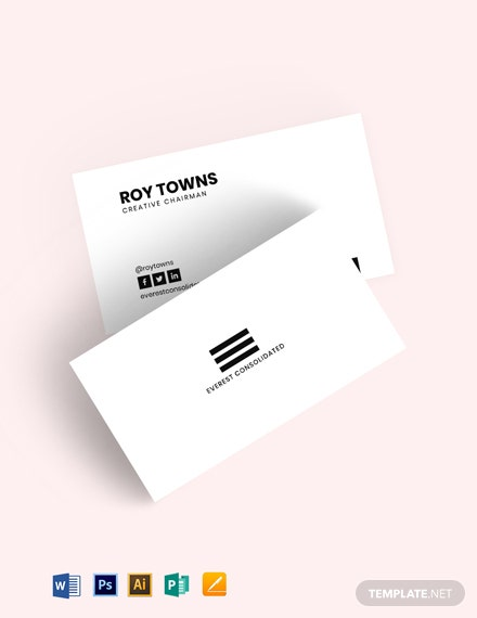 Minimal Black White Business Card Template