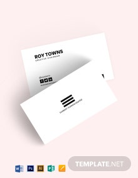 Minimal Black White Business Card Template