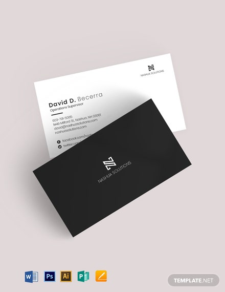 Minimal Black White Business Card
