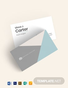 Modern Triangle Business Card Template